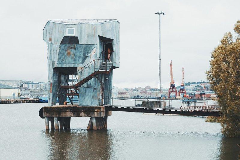 Sauna, mitten im Hafen Frihamnen in Göteborg