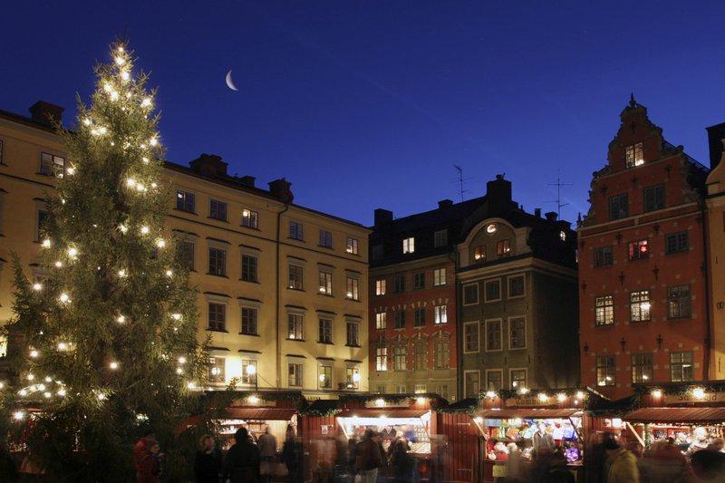 Marché de Noël dans la vieille ville de Stockholm