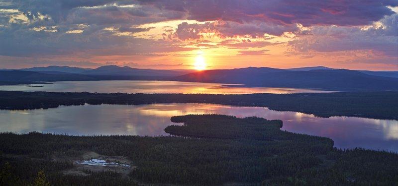 Le soleil de minuit en Suède