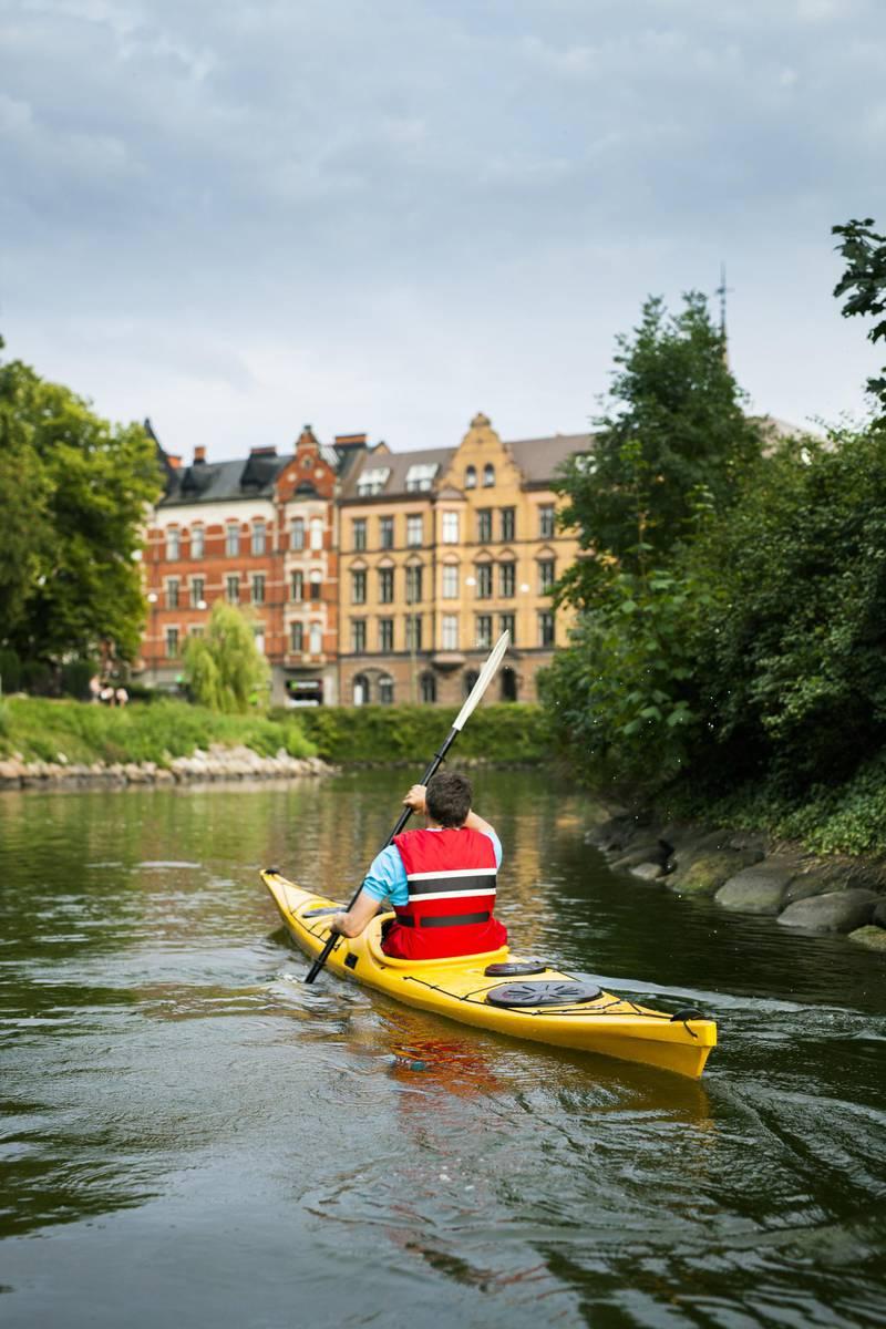 Kayaking in Malmö, Skåne