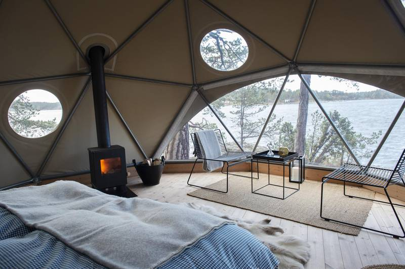 Glamping in der Island Lodge, Stockholm