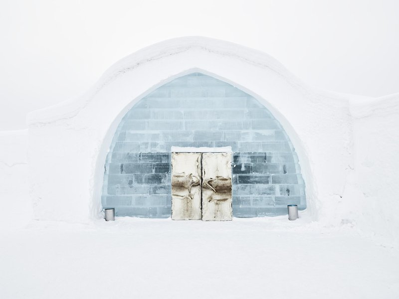 ICEHOTEL entrance