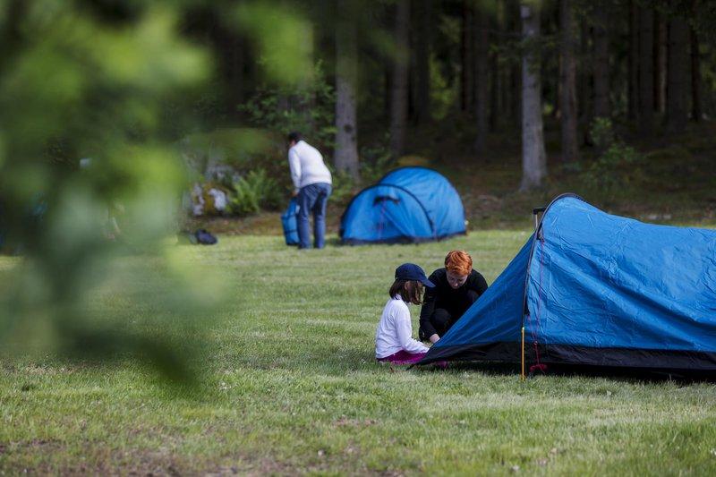 Kleines Zelt - großes Abenteuer in Småland, Schweden