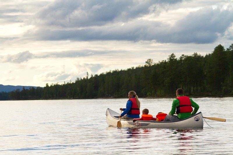 Kano varen in Idre Fjäll