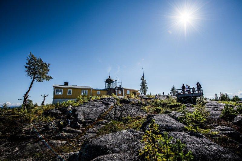Reserva natural y faro de Bjuröklubb en las cercanías de Skellefteå