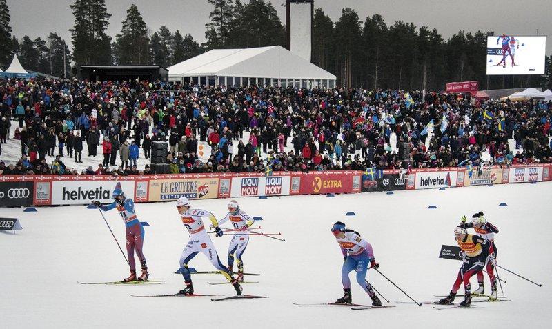 Skiing competition Svenska Skidspelen, Dalarna