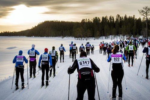 Skiing competition Vasaloppet, Dalarna