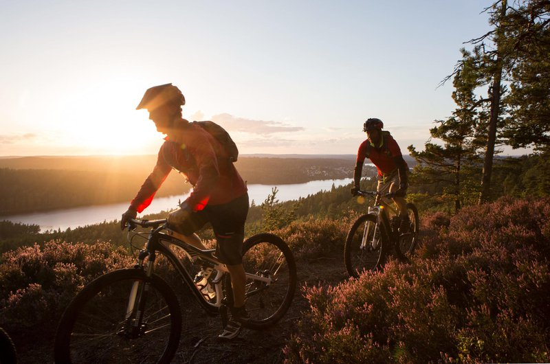 Mountain biking in Dalsland, West Sweden