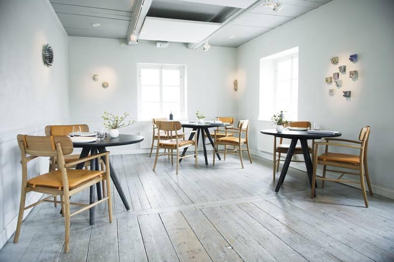 Interior of restaurant Daniel Berlin, Skåne