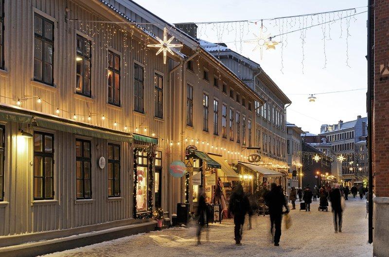 El barrio de Haga en Gotemburgo en Navidad