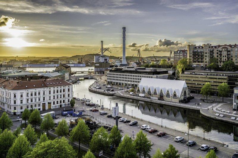 Feskeköra el mercado de pescado de Gotemburgo