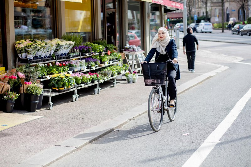 Biking in Gothenburg