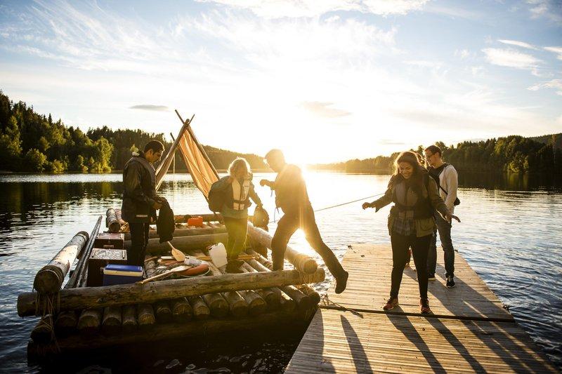 Rafting in Granö