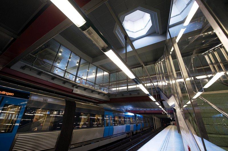 Станция метро Liljeholmen, Стокгольм.