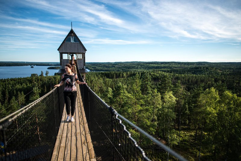 Little Rock Lake Zipline, Småland