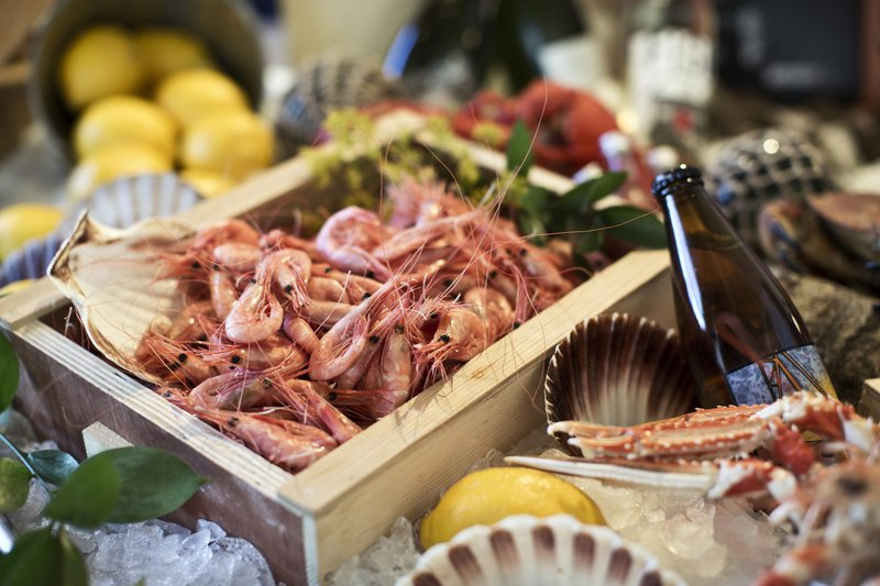 Fruits de mer sur la côte ouest