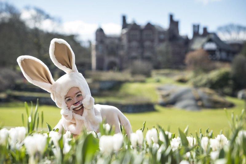 Easter bunny at Tjolöholms Castle, Halland