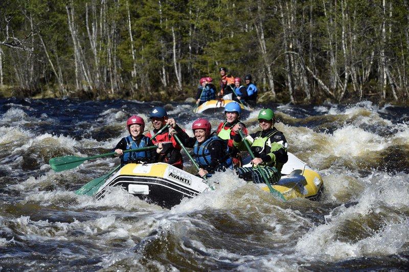 Rafting in Idre Fjäll, Dalarna