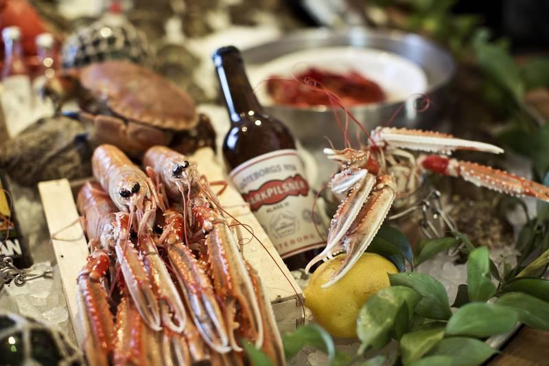Seafood at Restaurant Gabriel, Gothenburg