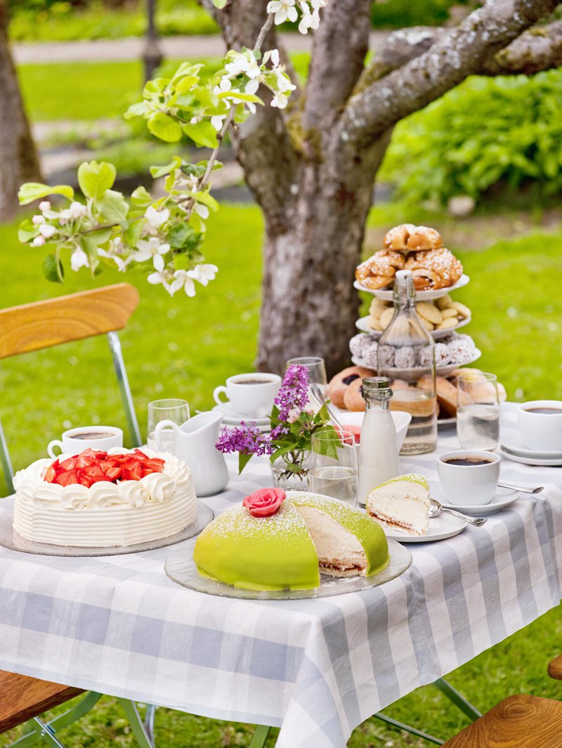 Schwedischer Fika-Tisch bei Grythyttan Inn