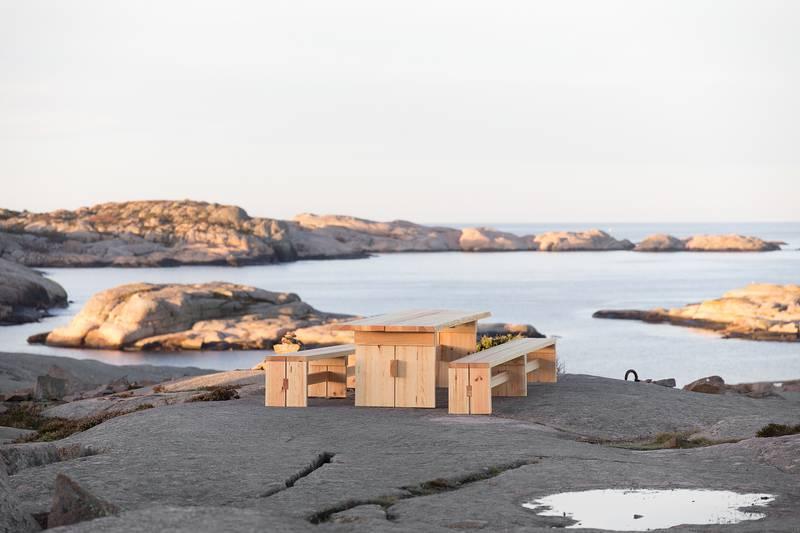 Ein Tisch der Initiative Ein Land wird Restaurant in Westschweden. Foto: Jonas Eltes & Victor Falk