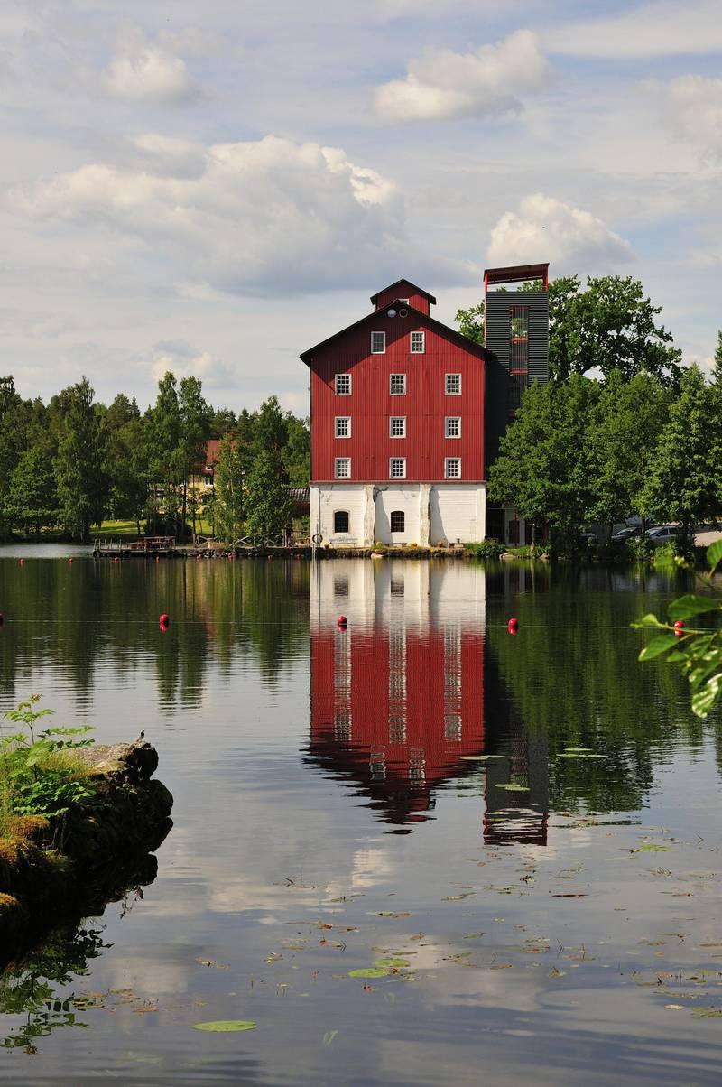 Außenansicht des Hotels Upperud in Westschweden.