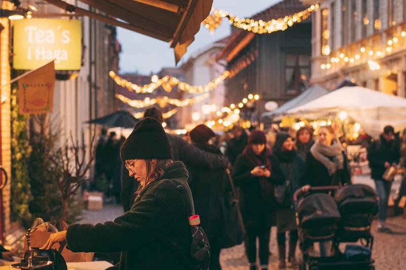 Weihnachtsmarkt in Haga, Göteborg