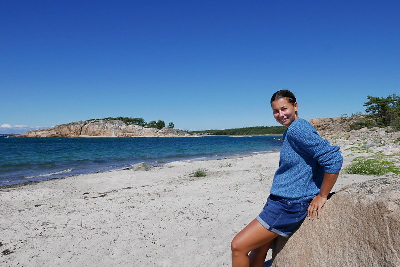 Die Autorin Jonna Dagliden Jagd in Bohuslän, Schweden.