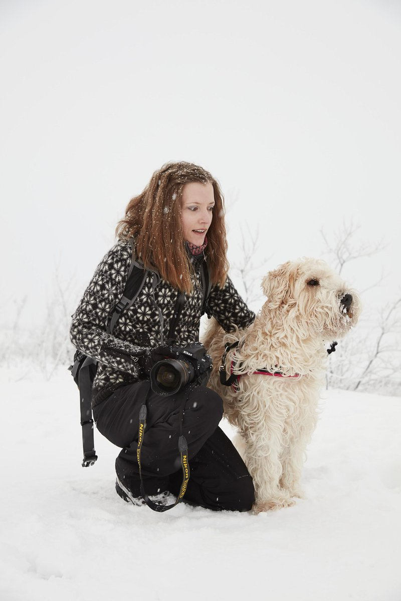 Mia Stålnacke with her dog