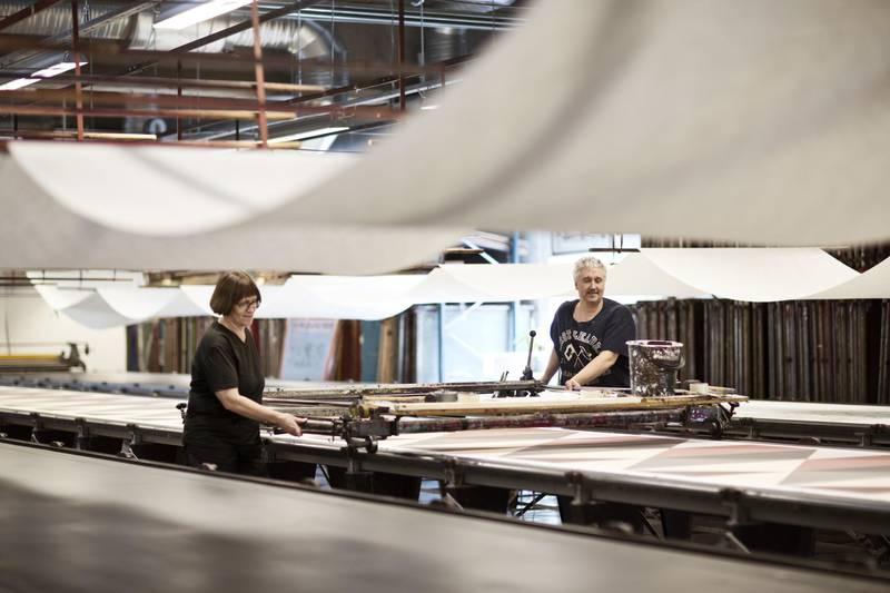 Hand printed textiles at Frösö Handtryck, Jämtland