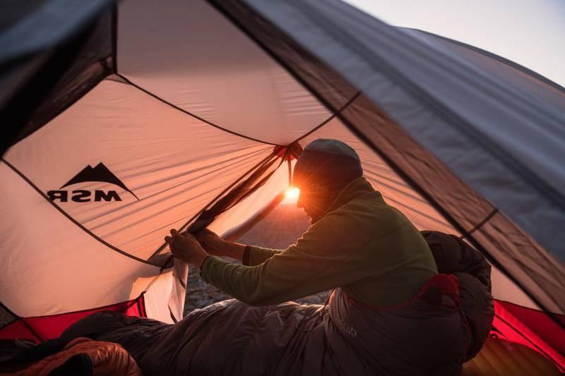 Camping along the King's trail, Swedish Laplan
