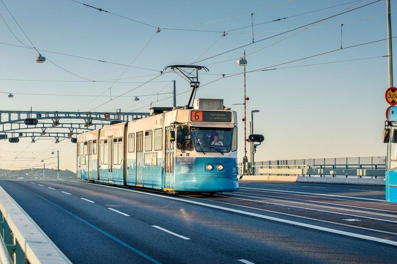 Трамвай в Гётеборге.